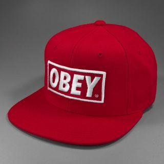 Shepard Fairey OBEY Original Basic Snapback red white Onesize
