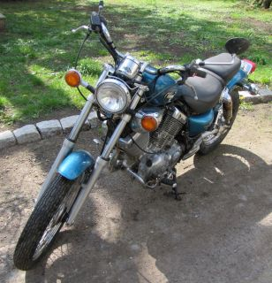 Chopper Yamaha Virago XV 535 blau Scheunenfund Bastlerfahrzeug ohne