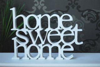Schriftzug Wanddekoration HOME SWEET HOME weiss #679