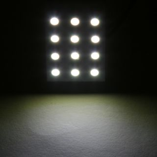1210 SMD 12 LED Car Interior Dome Light Lamp Panel Bulb T10 Dome BA9S
