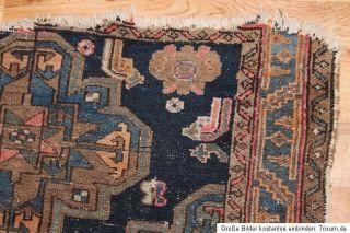 Antiker Handgeknüpfter Perser Teppich Bakhtiari Carpet Rug 157x101cm