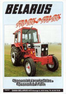 Belarus 570 BX / 572 BX rakor DK Prospek   brochure   déplian
