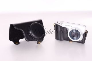 Black Leather Camera Case Bag Cover For Samsung Galaxy GC100 Camera EK
