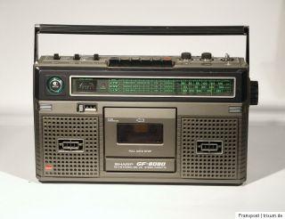 SHARP GF 8080 STEREO RADIORECORDER GHETTOBLASTER BOOMBOX RADIO