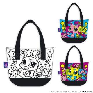 Littlest Pet Shop Tasche Handtasche Colour Mania anmalen gestalten