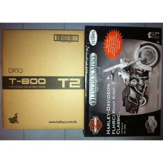 Ready Hot Toys DX10 T2 T800 Arnold Figure + 1/6 Harley Davidson