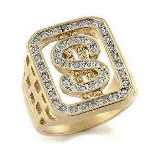 Isady – Bling Open   Herren Ring   585er 14K Gold platiert Zirconium