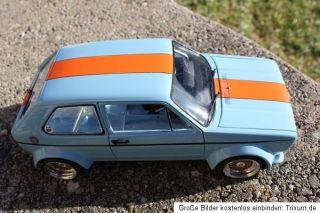 VW Golf I GTI Gr.2 Gulf Umbau Tuning 118 KL echt Alufelgen BBS