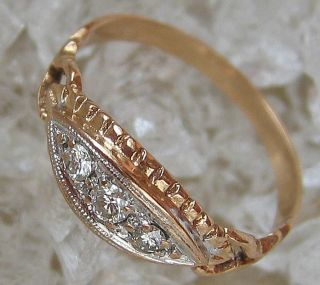 Goldringe 14kt 585 Gold Ring Brillant Ring Diamant Schmuck Artdeco