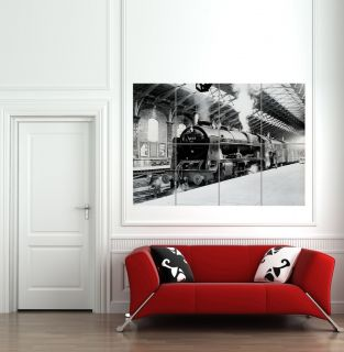 OLD STEAM TRAIN 1962 GIANT WALL ART POSTER B589