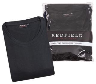 Doppelpack T Shirt Herren Übergröße schwarz Redfield