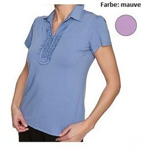 583 Shirt mit Polokragen mauve Gr. 42