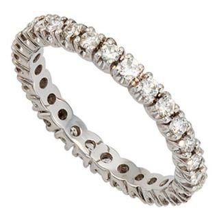 Diamanten Brillanten rundum, 585 Weißgold, Damenring, Goldring