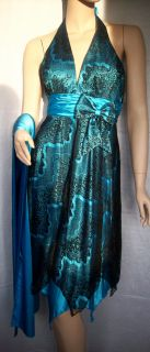 Designer Abendkleid by Juju & Christine 34 Kleid Blau