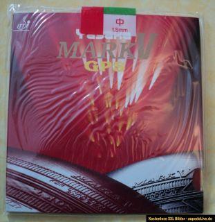 NEU ~ Yasaka MARK V GPS ~ Tischtennis Belag ~ Rot ~ 1.5mm ~