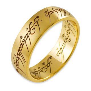 der Ringe Schmuck DER EINE RING aus 585 Gold/Gelbgold/matt A