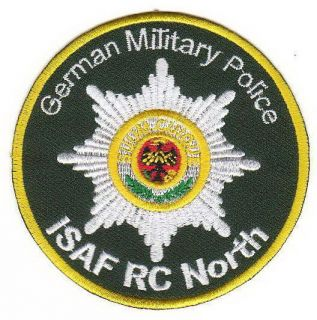 Bundeswehr   Aufnäher/Patch German Military Police ISAF RC NORTH