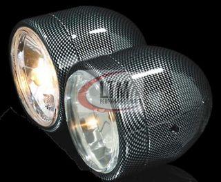 Scheinwerfer doppelt Carbon mit Straßenzulassung Quad ATV