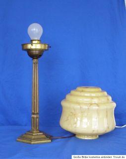 Art Deco Schreibtischlampe Lampe ca. 1930 original massiv Bronze