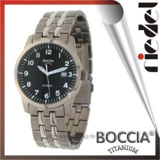 BOCCIA Uhren Herrenuhren 597 05 Herrenuhr Titanium neu Herren Uhr