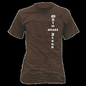 ODIN STATT JESUS T Shirt Gothic Germanen Wikinger 615