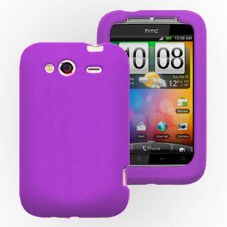 Lila Silikon Hülle Case Cover Tasche für HTC Wildfire S