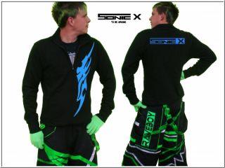 Hardstyle Techno Tattoo Jacke für schlag hose rave raver phat pants