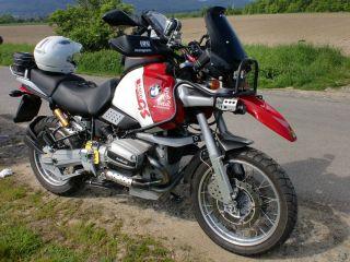 BMW R 1100 GS Auspuff Blende mit Schelle 1100GS Hitzeschutz Kruemmer