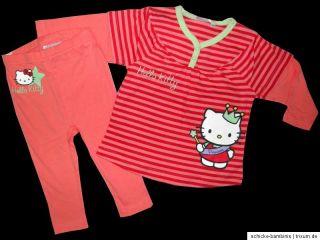 Set Hello Kitty Shirt Leggings Leggins Schlafanzug Jogginganzug 74 80