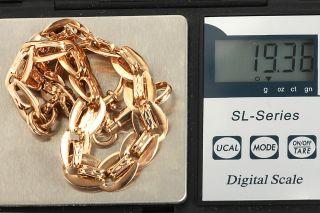 GELEGENHEIT AUS PRIVATBESITZ #547 ANTIKE UHREN KETTE ROT GOLD 585