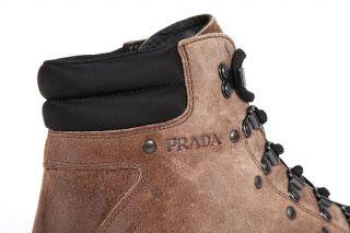 PRADA WILDLEDER STIEFEL HERREN BOOTS 4T2005 MGOLD COMBAT BOOTS MENS