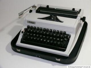 R634 } ALTE Schreibmaschine ERIKA Mod.105 + Koffer Typewriter 70er