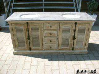 italien waschtisch badm bel eiche holz glas cipro neu. Black Bedroom Furniture Sets. Home Design Ideas
