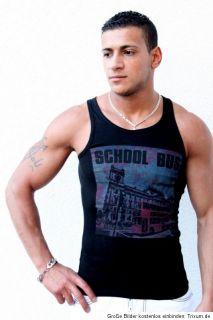 Herren Muskelshirt Body Tank Top Tanktops Muskel Achselshirt Shirt M L