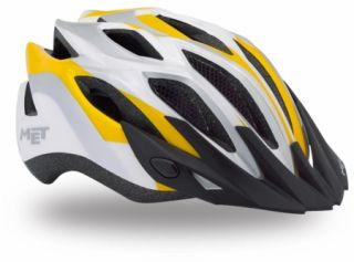 MET Crossover MTB / Road Helm Yellow Systemsteuerung Universal Fit 52