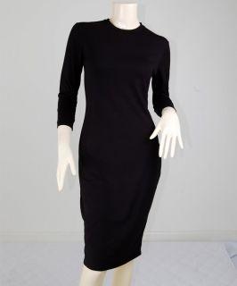 Black Vtg Rockabilly Pin Up Secretary Spy Kleid Dress M