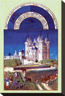 Les Riches Hes du Duc de Berry, Septembre Stretched Canvas Print