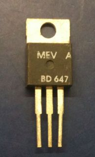 MEV BD647 Silicon NPN Darlington Transistor TO 220