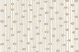 12 ROLLEN VLIES Tapete Dots and Stripes Weiß Gold NEU