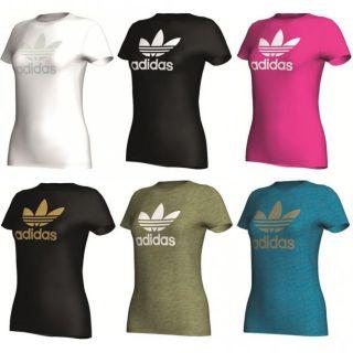 Adidas Damen T Shirt Adi Tee Trefoil 6 Farben 3756