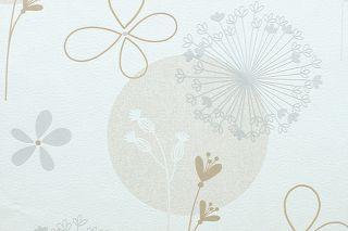 ROLLEN Premium VLIES Tapete Flower Weiß Applikationen
