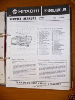 Service Manual Hitachi K 50E TV HiFi Anlage ORIGINAL