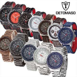 DeTomaso Classic Herren Armbanduhr FIRENZE Chronograph mit Leder