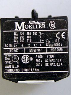 Klöckner Moeller 04 DIL E Hilfsschalter 4Ö NEU B/679