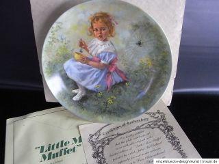 Sammel , Wandteller limitiert Little Miss Muffet Reco Bradex OVP