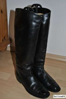 Neuw. ITALIENISCHE Echt Leder Stiefel Reiterstiefel Vintage Blogger