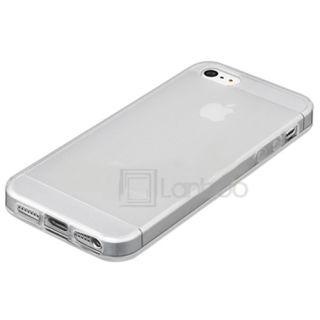 Apple iPhone 5 Handy Silikon Klar Transparent TPU Tasche Hülle Cover