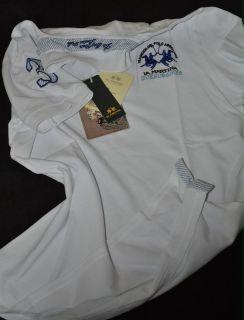 La Martina Damen Poloshirt kurzarm bianco L, XL, XXL 2012 neu