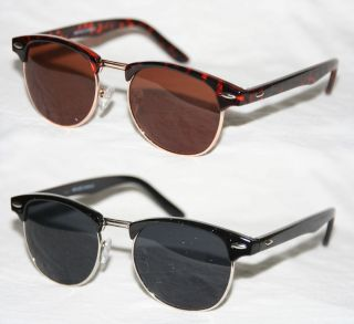 50er Jahre schwarz silber Vintage Brille braun gold 679