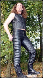 Lederhose Steppnähte echt Leder Hose leather pants pantalon en cuir